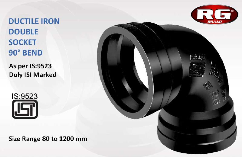 Black Double Flanged 90 Degree Bend