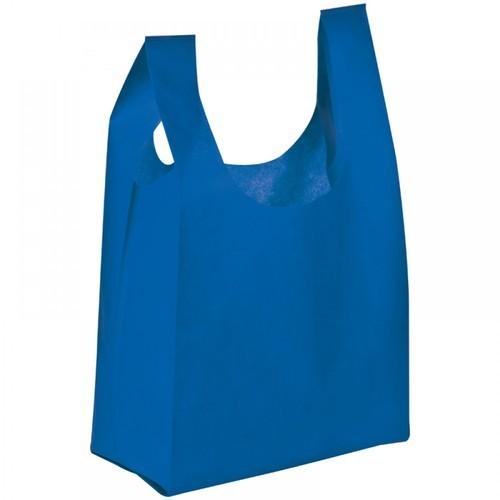 Blue Non Woven Vest Bags