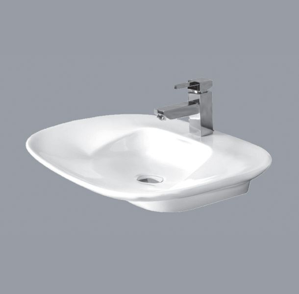 Ceramic Rectangular Table Top Wash Basin (Wing, Code: 124)