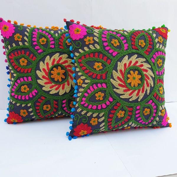 Vintage Square Suzani Cushion Cover