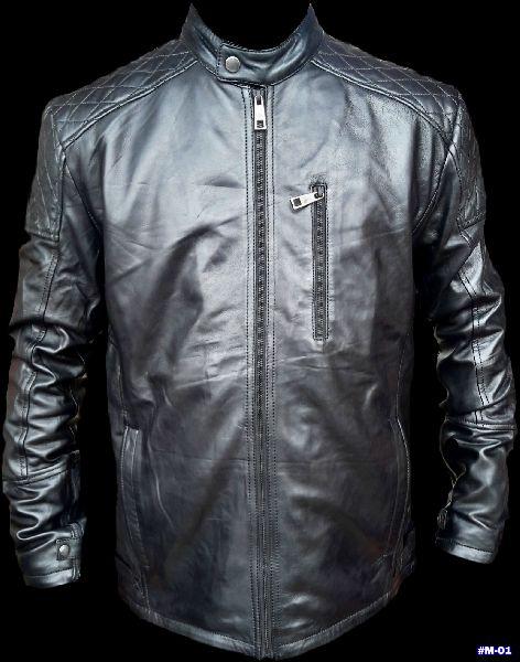 Men Leather Jacket (#M 01)