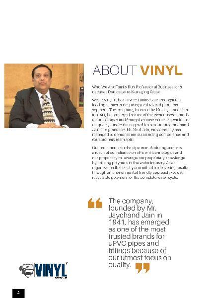 Vinyl 1 inch uPVC Threaded Pipe