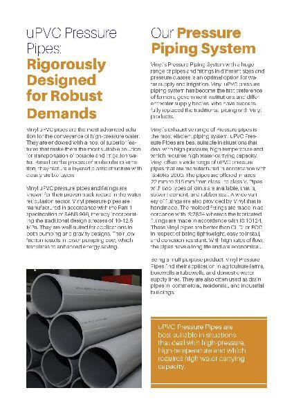 heavy duty vinyl 200 mm pressure pipe