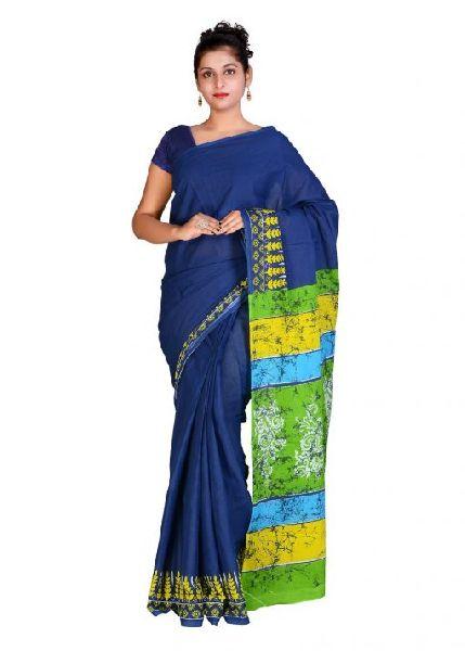 Bandhani Printed Cotton Sarees