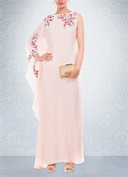 Seashell Colored Georgette Gown