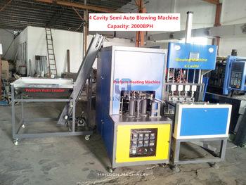 4 Cavity Semi Auto Pet Blowing Machine