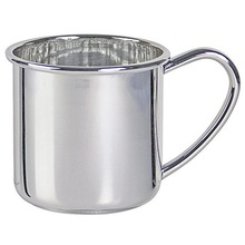 New born baby gift silver baby cup