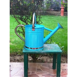 4 L Watering Can in Blue with stainless steel spout and handle