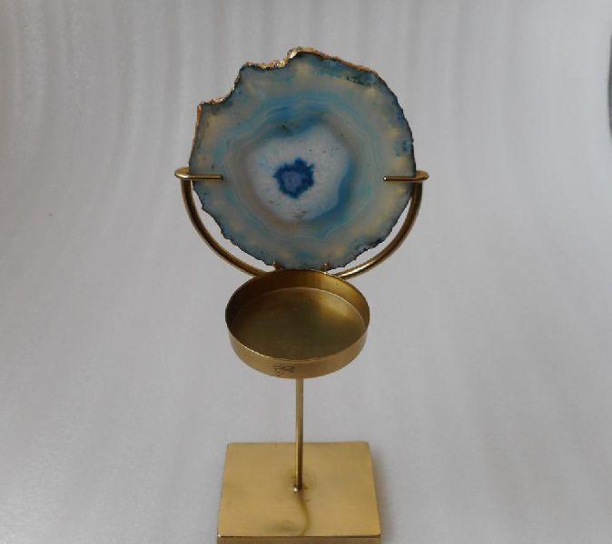Home Decorative Tea Light With Agate
