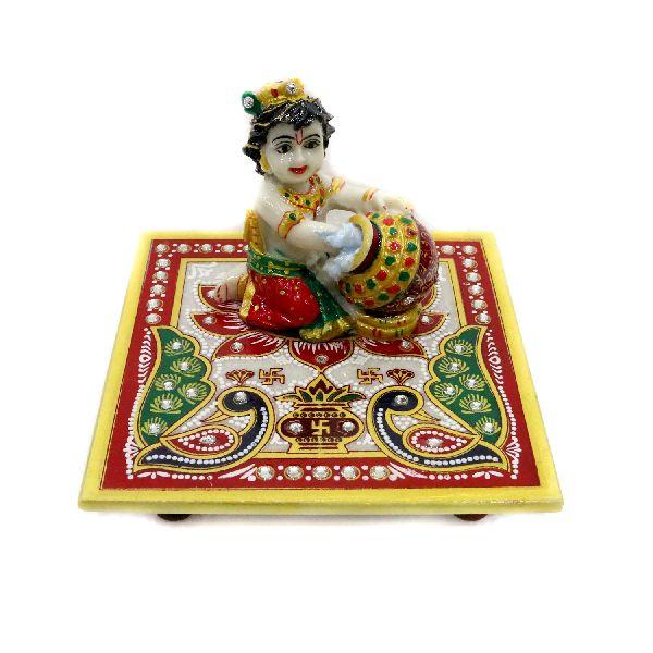 Beautiful square chowki with laddu gopal