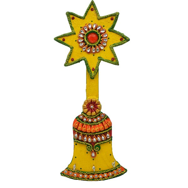 Bell shaped shubh-Labh wall dcor key holder