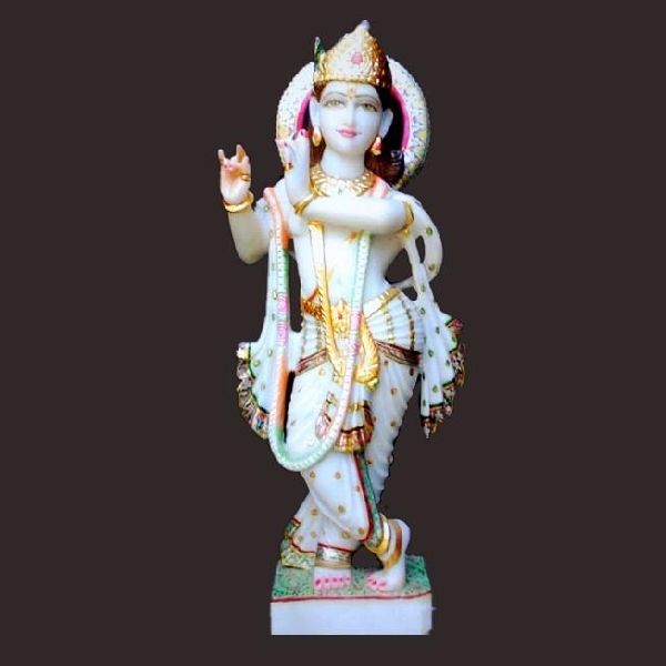 Lord Krishna Marble Statue Murti Manufacturer In Ahmedabad