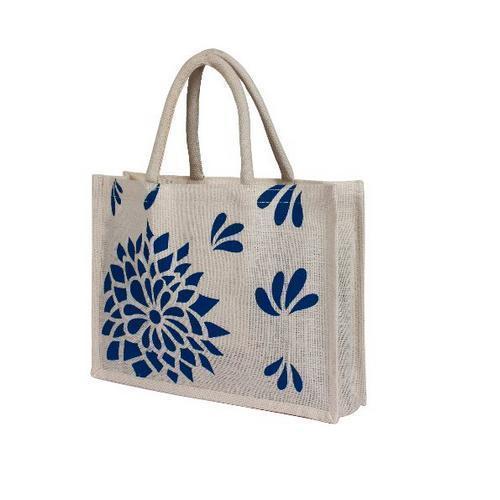 Jute Printed Carry Bag