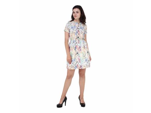 Georgette Tie-dye printed Button Closure Dress