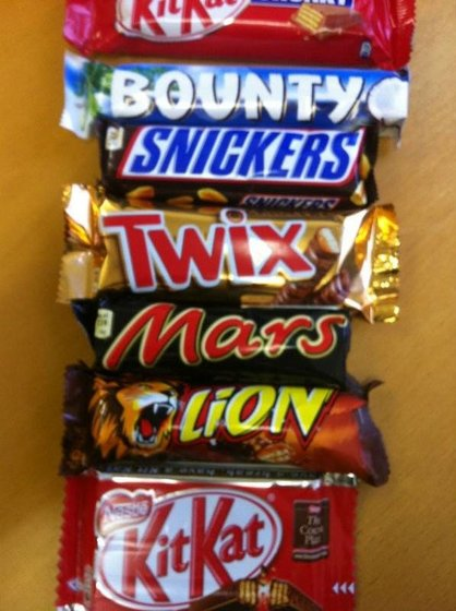 BOUNTY - SNICKERS - MARS - TWIX CHOCOLATES (52051605)