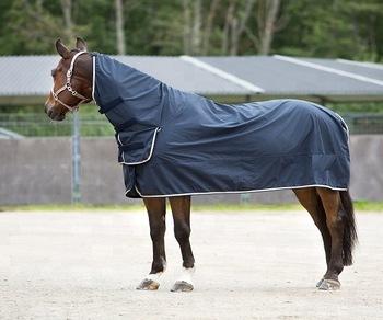 Buy Navy Horse Rug Full Neck Rain Sheet