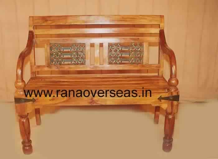Wondrous Buy Wood Iron Garden Chair From M S Rana Overseas Inc India Dailytribune Chair Design For Home Dailytribuneorg