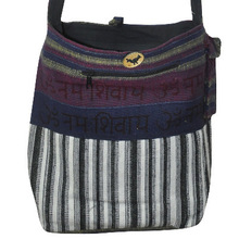 Bohemian Patchwork Block Print Hand Bag, Sling Cotton Shoulder Bag