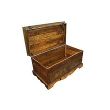 Reclaimed wooden bed side trunk