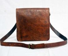 Real Goat Leather Vintage Messenger Bag