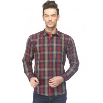 CAIRON RED CHECK CASUAL SHIRT