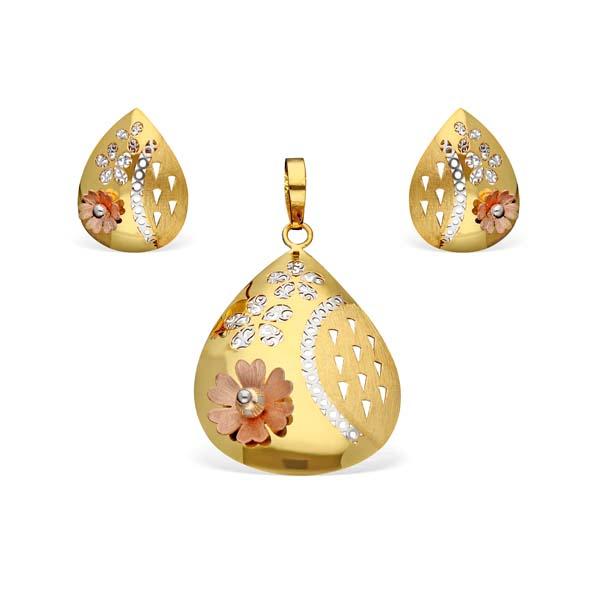 Italian Gold Pendant Set (IPS78)