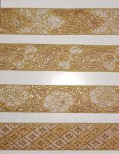 golden zari laces
