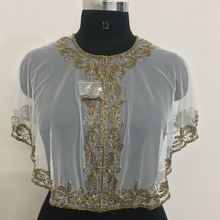 hand work on net fabric poncho top shrug Manufacturer in New