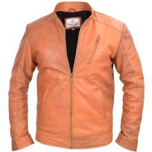 men genuine leather biker jacket