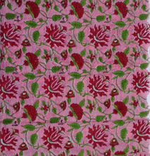 Cotton Hand Block Print Floral Fabric