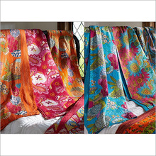 Kantha Quilts Reversible Throws Bedspread