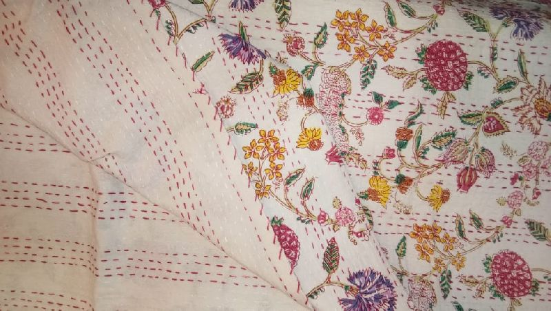 Embroidered Kantha Bed Covers (4001)