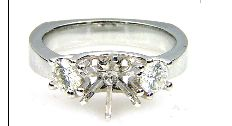 0.50 Ct Diamond & 18KT White Gold Semi Mount Ring (CL1499)