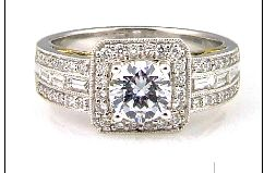 0.58 Ct Diamond & 18KT 2 Tone Gold Semi Mount Ring (CL2449)