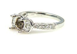 0.70 Ct Diamond & 18KT White Gold Semi Mount Ring (CL1195)