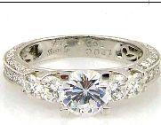 1.00 Carat Diamond & 18KT White Gold Semi Mount Ring (CL2995)