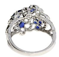 1.60 Ct Diamond & 18KT White Gold Sapphire Ring (CL1329)