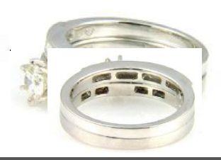 1 Ct Diamond & 18KT White Gold Ring Set (CL2199)