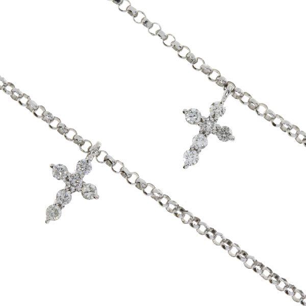 .40ct Diamond & 18K White Gold Cross Religious Pendant (CL995)