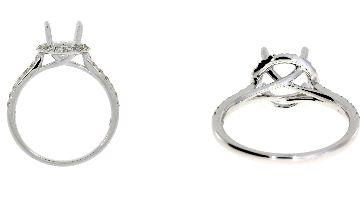 .49 Ct Diamond & 18KT White Gold Ring Set (CL1059)