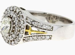 .99 Ct Diamond & 18KT 2 Tone Gold Ring (CL1329)