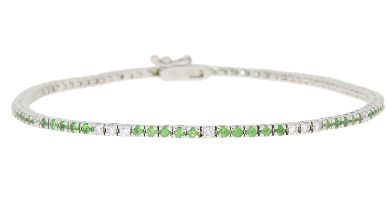 Diamond Emerald Tennis Bracelet (CL1369)