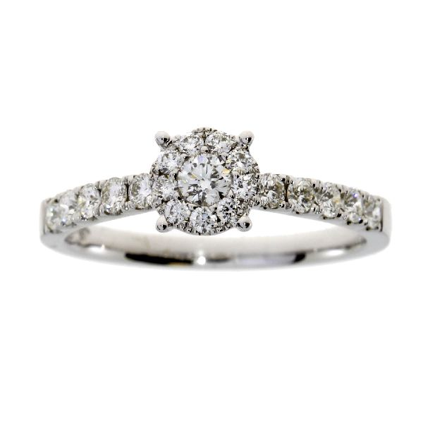 .50 Ct Diamond & 18KT White Gold Ring (CL799)