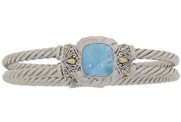 Sterling Silver Larimar Bangle Bracelet (CL199)