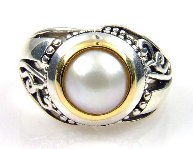 Sterling Silver Pearl Ring (CL199)