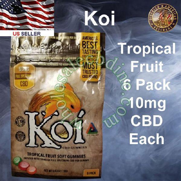 KOI CBD Tropical Fruit 6 Pack 10mg