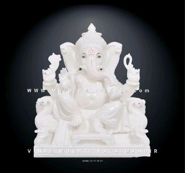 White Ganesh Marble Statue Manufacturer In Jaipur Rajasthan India