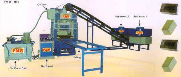Fully Automatic Fly Ash Brick Making Machine (PMW-001)