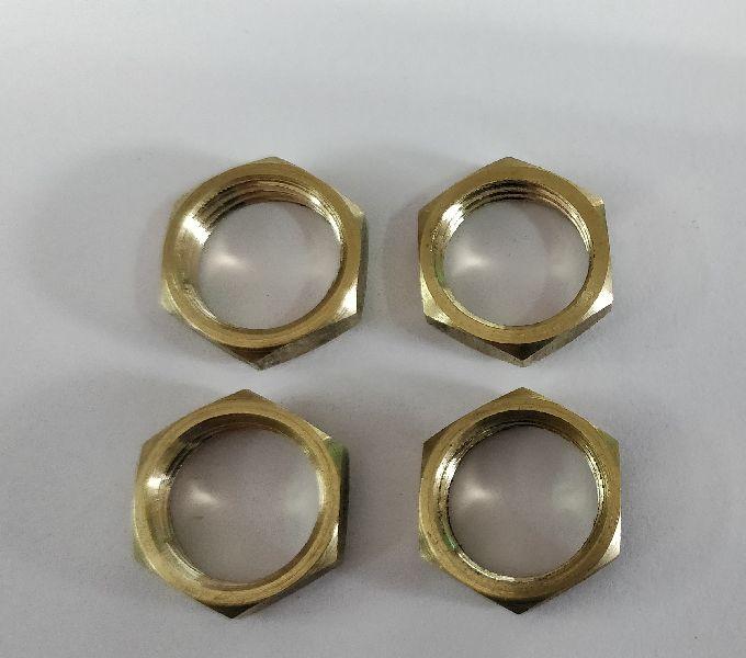 Brass Hexagon Locknut (Half Nut) Metric