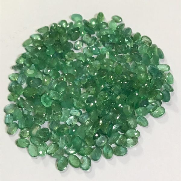 MM size zambian emeralds stone rich green color